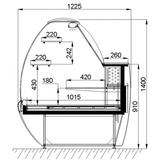 Холодильная витрина умбриэль вс 19-260-5 классик - 1