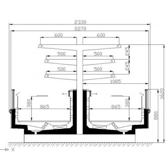 Морозильная бонета розалинда вн 18-260 - 1