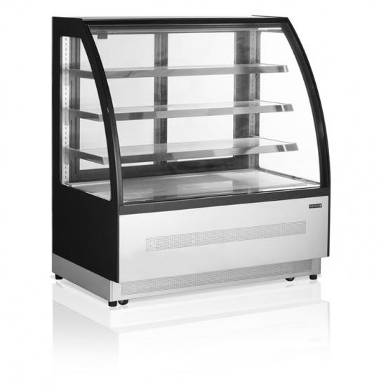 Витрина холодильная tefcold lpd1200c-p черная - 1