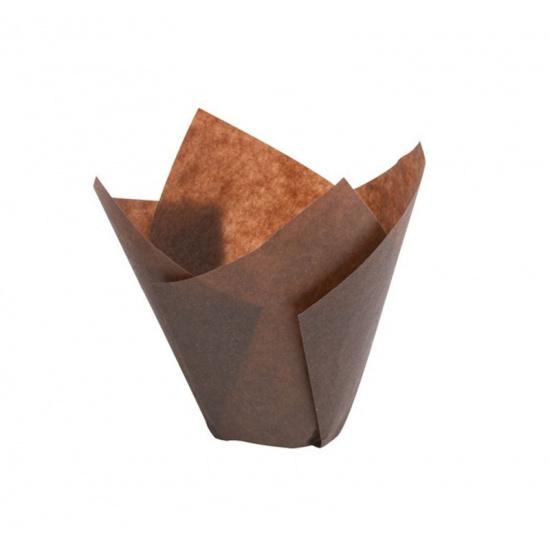 Форма бумажная тюльпан 160/50, 200шт/упак, коричн. - 1