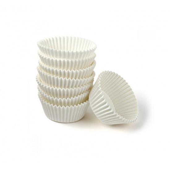 Розетка бумажная круглая d=45мм, h=26мм, белая (20000 шт.) - 1