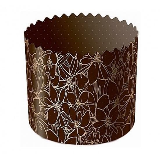 Форма бумажная для кекса, маффинов и кулича цвет миндаля d134xh100мм (1400 шт.) - 1