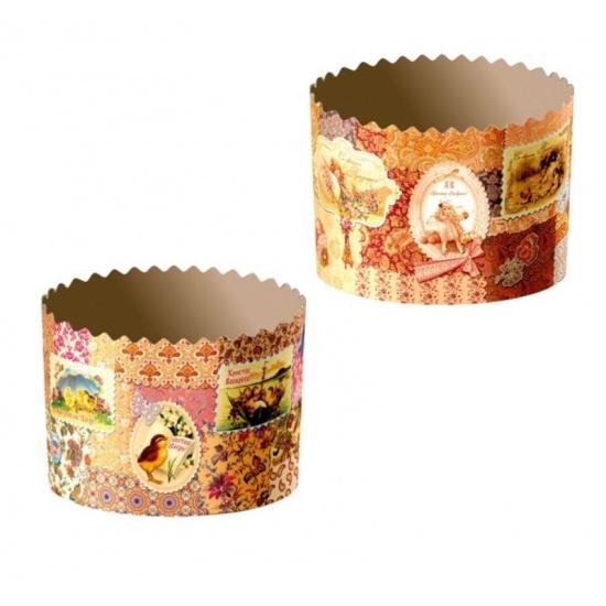 Форма бумажная для кекса, маффинов и кулича ретро d110хh85 - 1