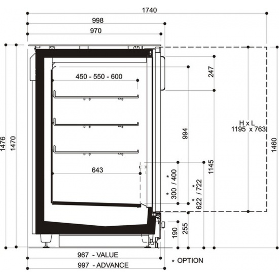 Шкаф-бонета costan gransesia 3p-2343 narrow - 1
