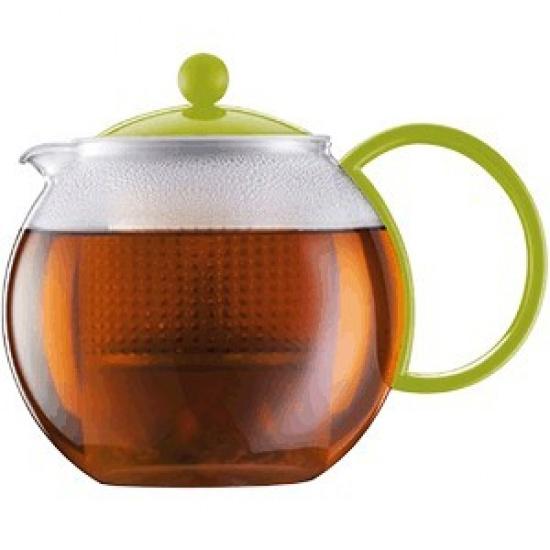Чайник с прессом «Ассам» Bodum 1844-565, 1л, зелен. - 1