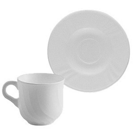 Набор кофейных пар «эбро»(6шт) bormioli rocco 402821, стекло, 160мл - 1