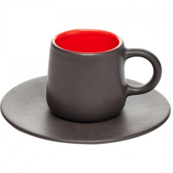 Пара кофейная коническая «кармин» dymov 287408, керамика, 200мл - 1