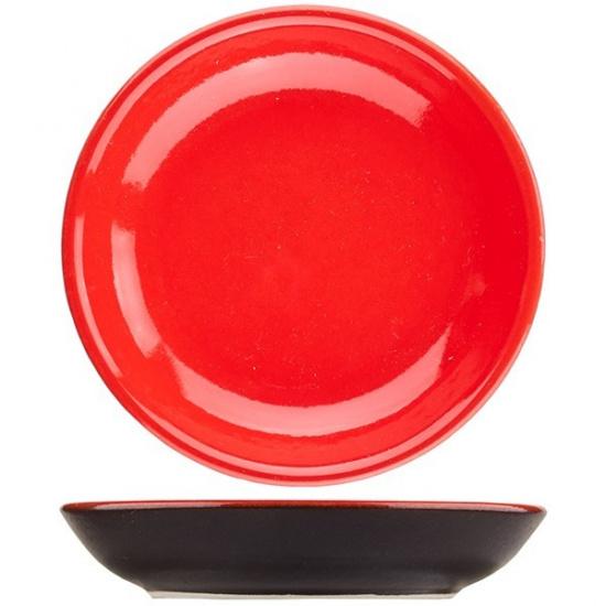Тарелка б/полей «кармин» dymov 050408, керамика, d=10см - 1