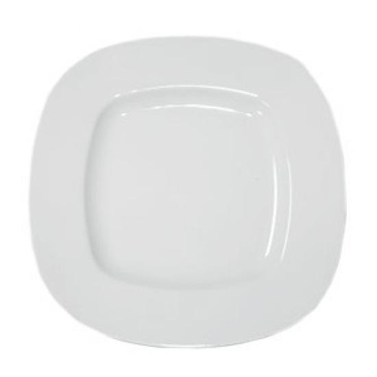 Тарелка квадратная с закруг. краями «Рита» Lubiana 4380, фарфор, H=3, L=28, B=28см - 1