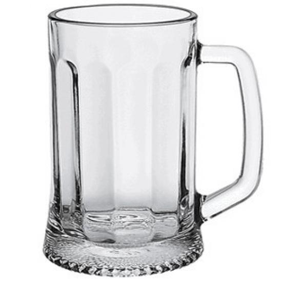 Кружка пивная с гранями «Ладья» Osz 1144, стекло, 0, 5л - 1