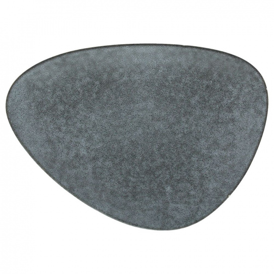 Тарелка мелкая «органика»; керамика; l=28,b=20,5см; серый - 1